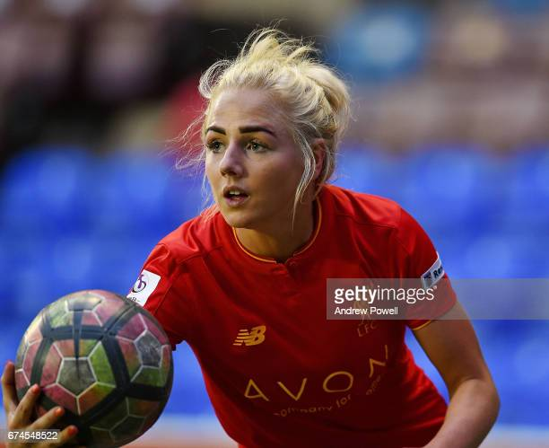 Alex Greenwood of Liverpool Ladies during a Women's Super League match between Liverpool Ladies and Reading FC Women at Select Security Stadium on...