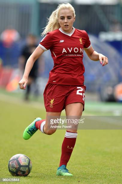 Alex Greenwood of Liverpool Ladies during the Women's Super League match between Liverpool Ladies and Chelsea Ladies at Prenton Park on May 20 2018...