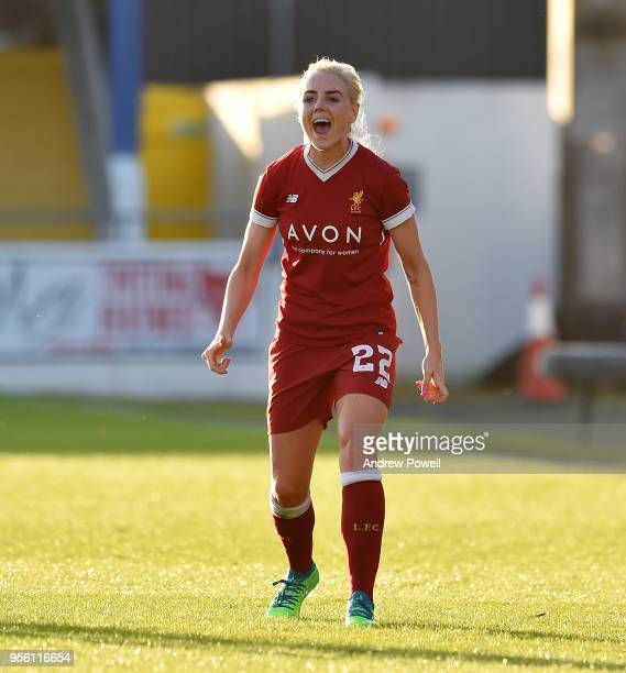 Alex Greenwood of Liverpool Ladies reacts during the Women's Super League match between Liverpool Ladies and Manchester City Women at The Swansway...