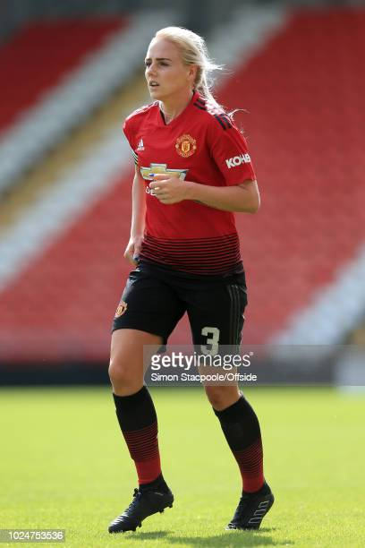 Alex Greenwood of Man Utd in action during the FA WSL Continental Tyres Cup match between Manchester United Women and Reading Women at Leigh Sports...