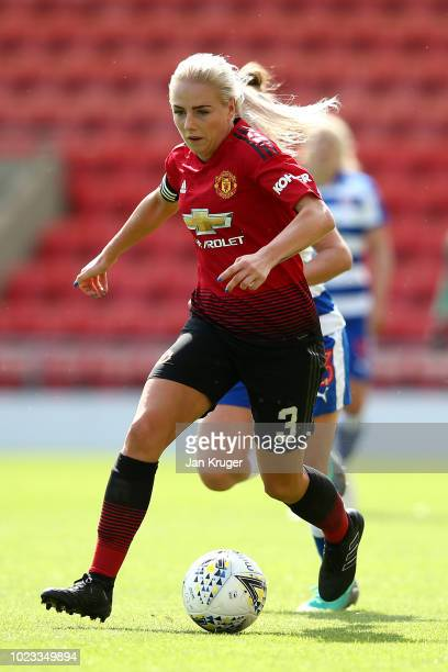 Alex Greenwood of Manchester United Women during the FA WSL Continental Tyres Cup match between Manchester United Women and Reading at Leigh Sports...