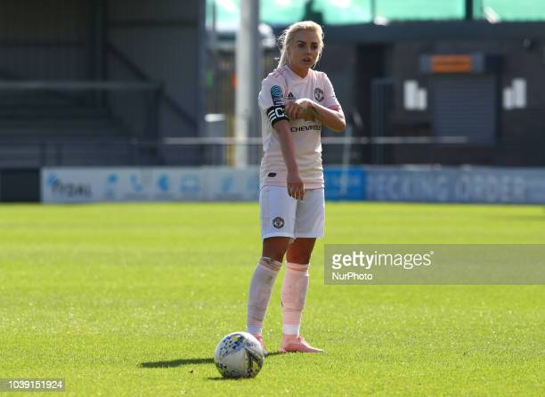 Alex Greenwood of Manchester United Women during Women's Super League Two match between London Bees FC and Manchester United FC Women at The Hive...