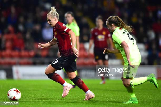 Alex Greenwood of Manchester United Women in action during the FA Women's Championship match between Manchester United Women and Sheffield United...