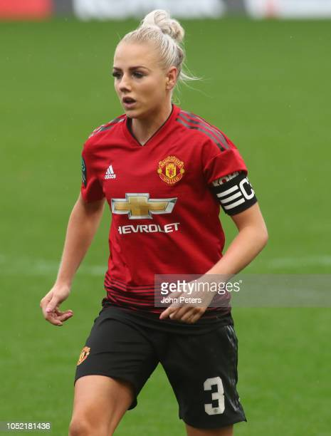 Alex Greenwood of Manchester United Women in action during the FA Women's Championship match between Manchester United Women and Charlton Athletic...
