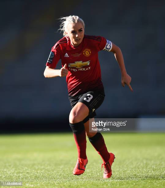 Alex Greenwood of Manchester United Women in action during the Women's Super League match between Manchester United Women and Lewes Women at Leigh...