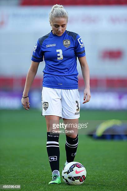 Alex Greenwood of Notts Ladies County FC during warm up prior to the WSL Continental Cup Final between Arsenal Ladies FC and Notts County Ladies FC...