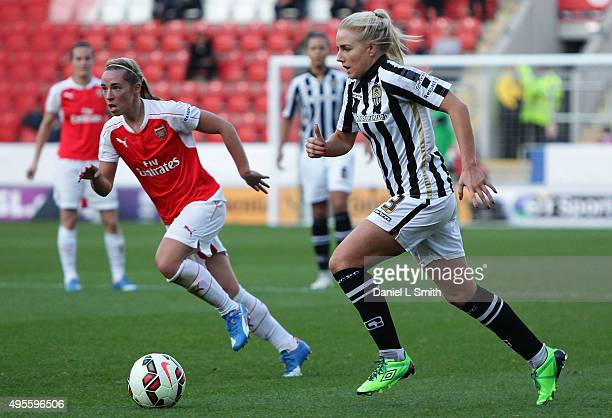 Alex Greenwood of Notts Ladies FC controls the ball during the WSL Continental Cup Final between Arsenal Ladies FC and Notts County Ladies FC at The...