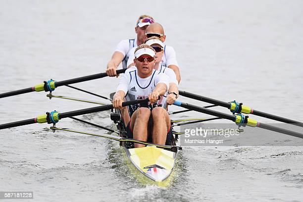 Alex Gregory of Great Britain Mohamed Sbihi of Great Britain George Nash of Great Britain and Constantine Louloudis of Great Britain compete during...