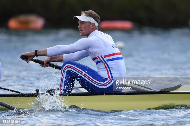 Alex Gregory of the GB Olympic Rowing Team at the Redgrave Pincent Rowing Lake in Caversham Berkshire