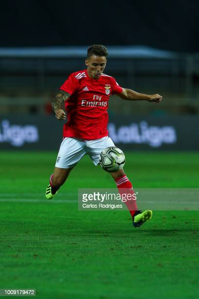 Alex Grimaldo from SL Benfica during the match between SL Benfica v Lyon for the International Champions Cup Eusebio Cup 2018 at Estadio do Algarve...