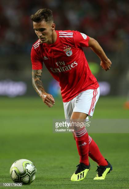 Alex Grimaldo from SL Benfica in action during the International Champions Cup match between SL Benfica and Lyon at Estadio Algarve on August 1 2018...