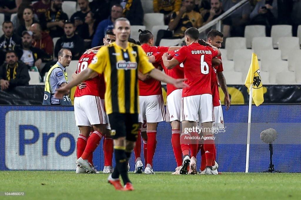 AEK Athens vs Benfica Lisbon - UEFA Champions League : News Photo