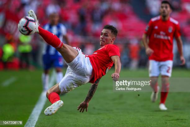 Alex Grimaldo of SL Benfica during the Liga NOS round 7 match between SL Benfica and FC Porto at Estadio da Luz on October 7 2018 in Lisbon Portugal