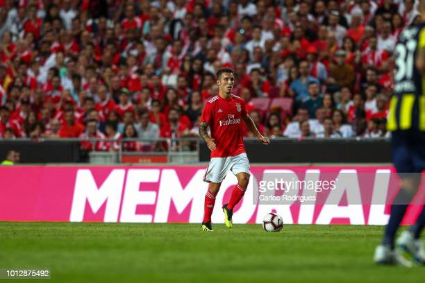Alex Grimaldo of SL Benfica during the match between SL Benfica and Fenerbache SK for UEFA Champions League Qualifier at Estadio da Luz on August 7...