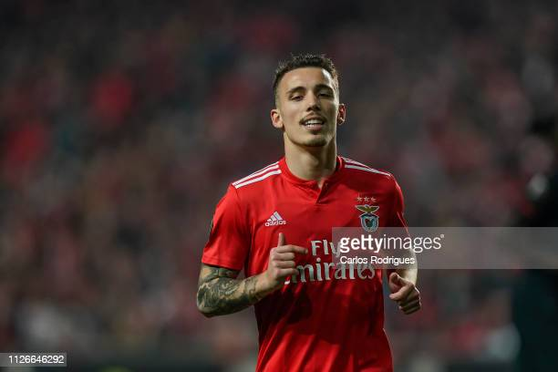 Alex Grimaldo of SL Benfica during the UEFA Europa League Round of 32 Second Leg match between SL Benfica and Galatasaray at Estadio da Luz on...