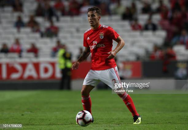 Alex Grimaldo of SL Benfica in action during the Liga NOS match between SL Benfica and Vitoria SC at Estadio da Luz on August 10 2018 in Lisbon...