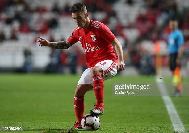 Alex Grimaldo of SL Benfica in action during the Liga NOS match between SL Benfica and SC Braga at Estadio da Luz on December 23 2018 in Lisbon...