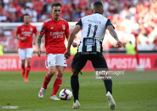 Alex Grimaldo of SL Benfica in action during the Liga NOS match between SL Benfica and Portimonense SC at Estadio da Luz on May 4 2019 in Lisbon...