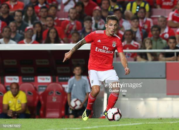 Alex Grimaldo of SL Benfica in action during the UEFA Champions League Qualifier match between SL Benfica and Fenerbache at Estadio da Luz on August...
