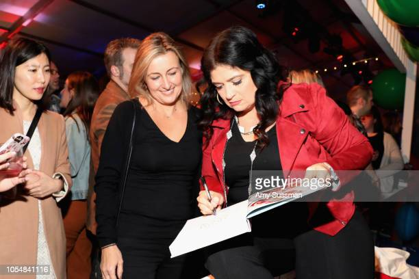 Alex Guarnaschelli attends Food Network's 25th Birthday Party Celebration at the 11th annual New York City Wine Food Festival at Pier 92 on October...