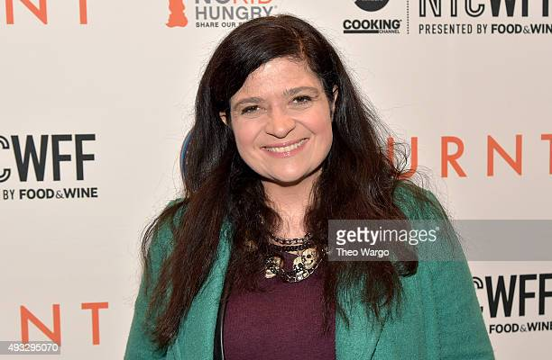 Alex Guarnaschelli attends the Private Screening Of BURNT QA Panel And Reception With Bradley Cooper And Sienna Miller during Food Network Cooking...