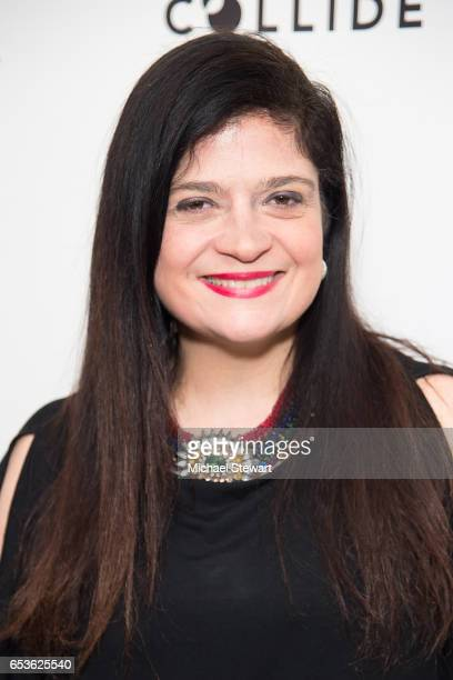 Alex Guarnaschelli poses during the Tracy Anderson Flagship Studio opening at Tracy Anderson Flagship Studio on March 15 2017 in New York City