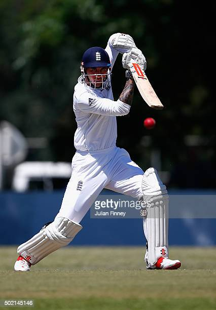 Alex Hales of England bats during day two of the tour match between South Africa A and England at City Oval on December 21 2015 in Pietermaritzburg...