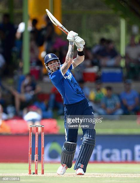 Alex Hales of England bats during the 1st Momentum ODI match between South Africa and England at Mangaung Oval on February 3 2016 in Bloemfontein...