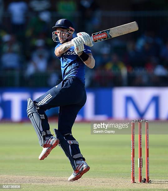Alex Hales of England bats during the 2nd Momentum ODI between South Africa and England at St George's Park on February 6, 2016 in Port Elizabeth,...