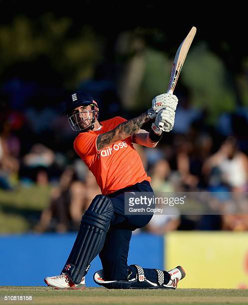 Alex Hales of England bats during the T20 Tour Match between South Africa Invitation XI and England at Boland Park on February 17 2016 in Paarl South...