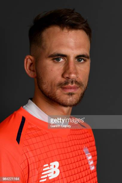 Alex Hales of England poses for a portrait at Edgbaston on June 26, 2018 in Birmingham, England.