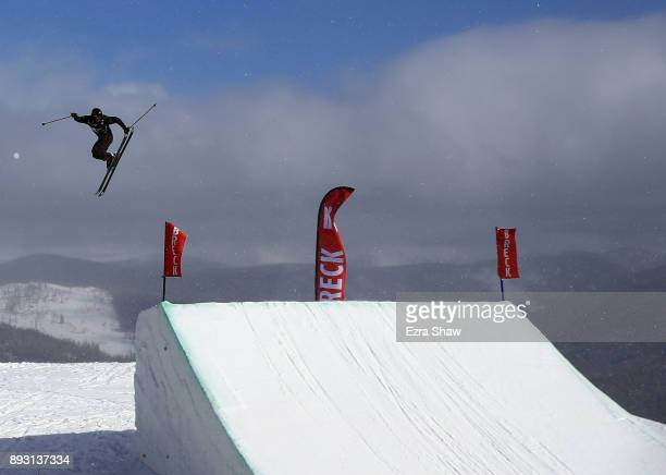 Alex Hall competes in the Men's Ski Slopestyle qualifier during Day 2 of the Dew Tour on December 14 2017 in Breckenridge Colorado