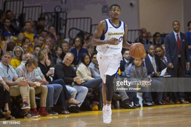 Alex Hamilton of the Santa Cruz Warriors dribbles the ball against the South Bay Lakers during an NBA GLeague game on November 4 2017 at Kaiser...