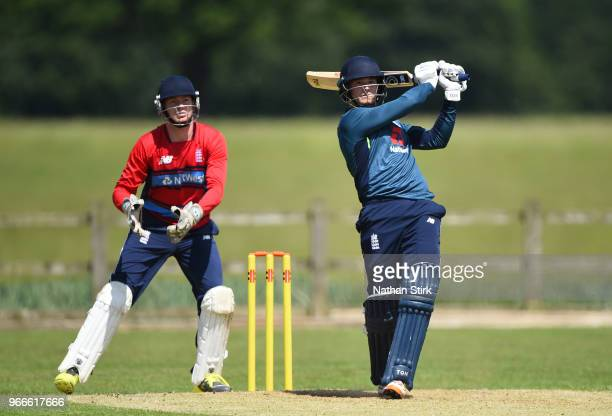 Alex Hammond of England batting during a England Physical Disability T20 match between England Seniors and England Lions at Penkridge Cricket Club on...