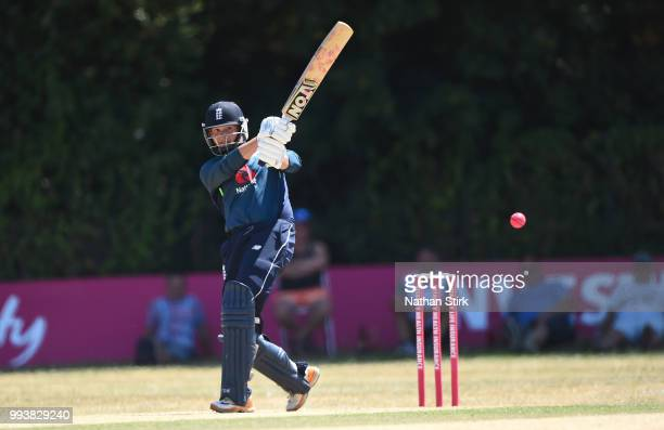 Alex Hammond of England batting during the Vitality IT20 Physical Disability TriSeries match between England and Pakistan at Barnards Green Cricket...