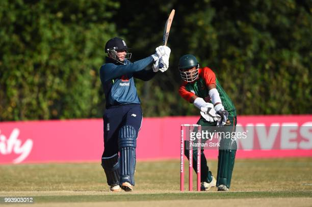 Alex Hammond of England batting during the Vitality IT20 Physical Disability TriSeries match between England and Bangladesh at Barnards Green Cricket...