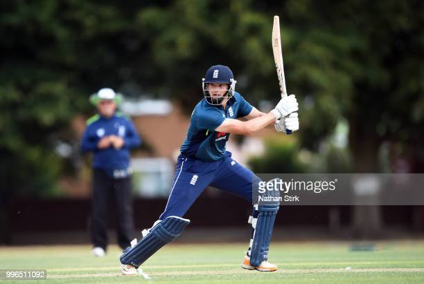 Alex Hammond of England batting during the Vitality IT20 Physical Disability TriSeries match between England and Pakistan at Kidderminster Cricket...