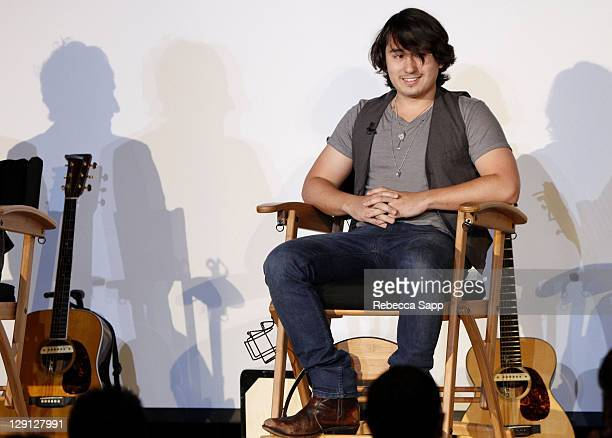 Alex Hargrave of Paracute speaks to students during Backstage Pass Parachute at The GRAMMY Museum on May 18 2011 in Los Angeles California