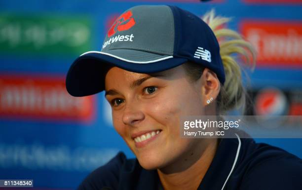 Alex Hartley of England during the ICC Women's World Cup 2017 match between England and Australia at The Brightside Ground on July 9 2017 in Bristol...