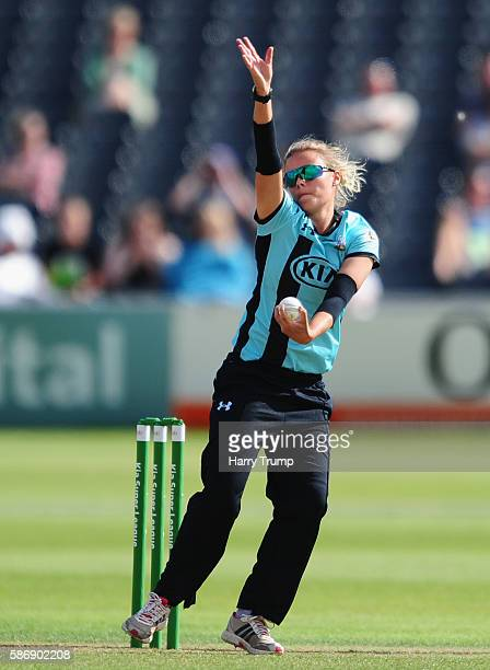Alex Hartley of Surrey Stars during the Womens Kia Super League match between Western Storm and Surrey Stars at the Brightside Ground on August 7...