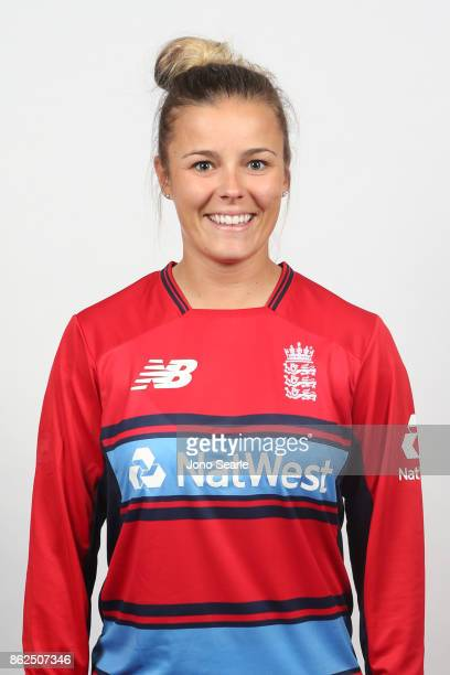Alex Hartley poses during the England women's Test headshots session on October 13 2017 in Brisbane Australia