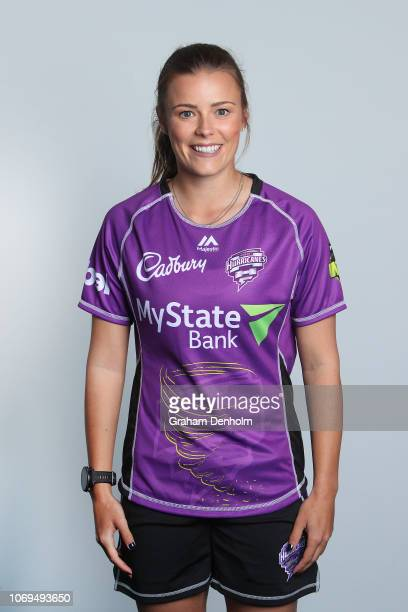 Alex Hartley poses during the Hobart Hurricanes WBBL Headshots Session at Blundstone Arena on November 19 2018 in Hobart Australia