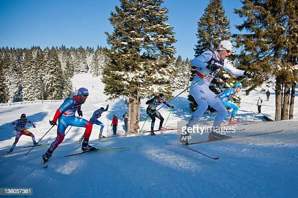Alex Harvey of Canada Anton Gafarov of Russia Martti Jylhae of Finland Eligius Tambornino of Swiss Edin Johan of Sweden and Federico Pellegrino of...