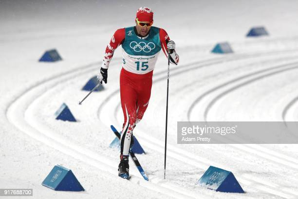 Alex Harvey of Canada competes during the CrossCountry Men's Sprint Classic Qualification on day four of the PyeongChang 2018 Winter Olympic Games at...