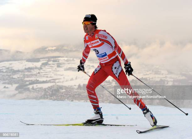 Alex Harvey of Canada competes during the final climb men for the FIS Cross Country World Cup Tour de Ski on January 10 2010 in Val di Fiemme Italy