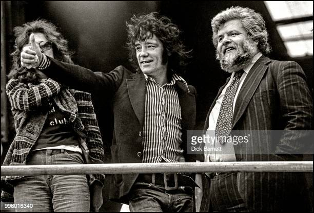 Alex Harvey of the Sensational Alex Harvey Band on stage at Stoke City Football Club United Kingdom 17th May 1975