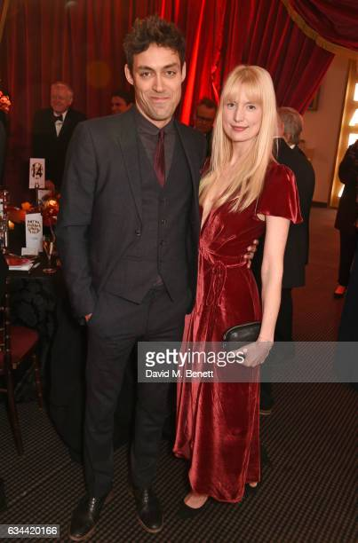 Alex Hassell and Emma King attend the BAFTA 2017 Film Gala Dinner at BAFTA Piccadilly on February 9 2017 in London England