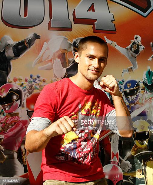 Alex Heartman attends Make A Wish Ribbon cutting Ceremony for POWER UP Power Morphiconat Pasadena Convention Center on August 23 2014 in Pasadena...