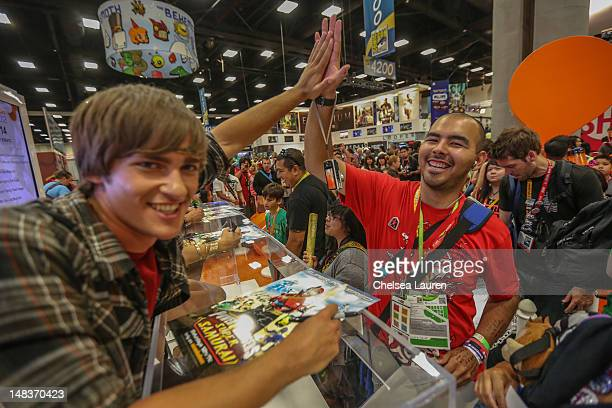 Alex Heartman of Saban's Power Rangers POWER up San Diego Comic Con at San Diego Convention Center on July 14 2012 in San Diego California