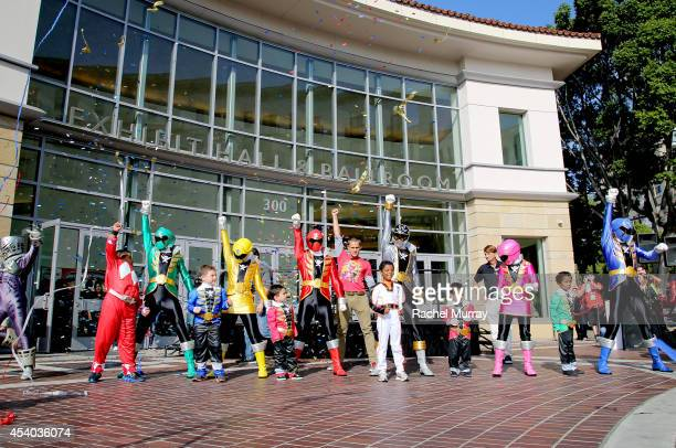 Alex Heartman the Red Ranger from Power Rangers Samurai joined the Power Rangers Super Megaforce and Five Junior Rangers from MakeAWish to defeat...